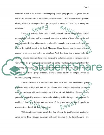 Group Motivation Inventory essay example