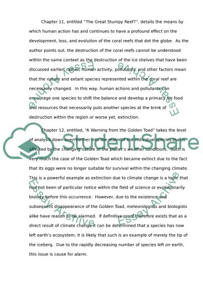 Summarization for 7 chapter of the weather makers essay example