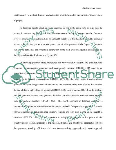 Teaching Grammar Term Paper