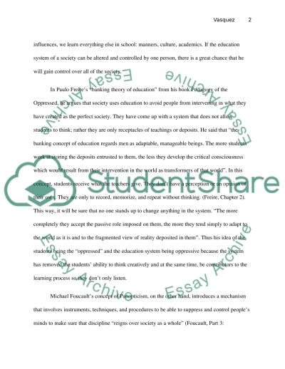 The Education System Essay example