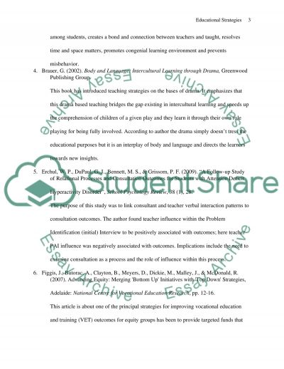 Educational Strategies essay example