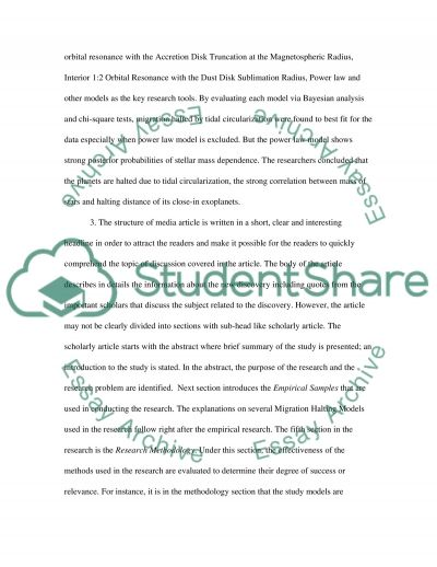 Comparing scholarly article and media article: essay example