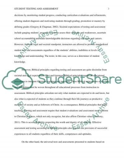 The Controversial Issue of Student Testing and Assestment essay example