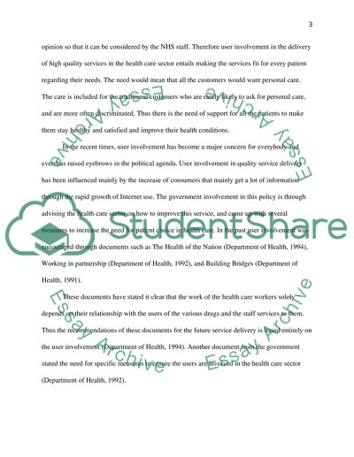 Essay on service user involvement
