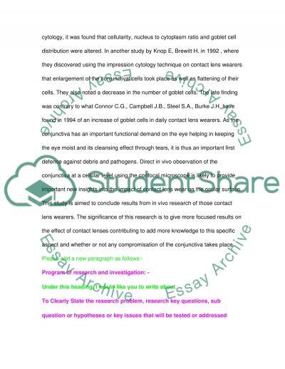 Conjunctiva in Contact Lens Wear essay example