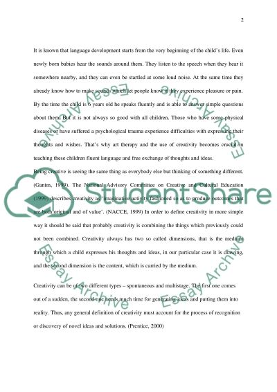 Art Therapy and Childs Communication essay example