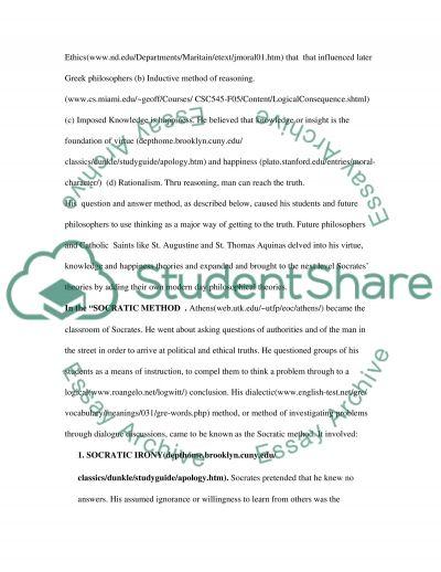 Teaching of Socrates essay example