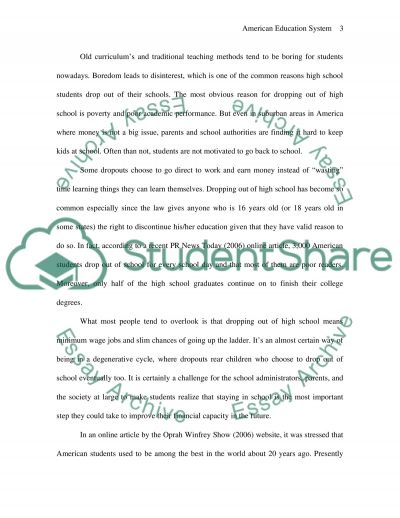 Is the American Education System in Trouble essay example