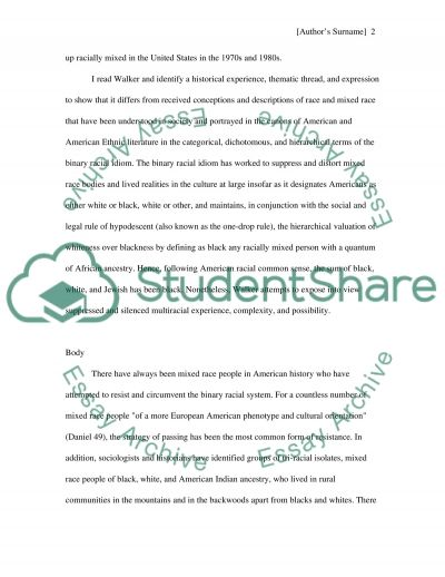 Rebecca Walker essay example