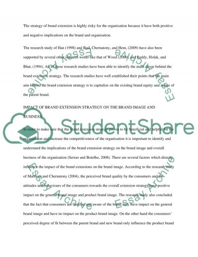 Why do Brand Extension Strategies Fail essay example