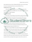 Enterprise Systems Assessment Essay example
