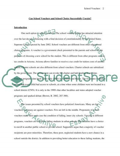 School Vouchers Essay