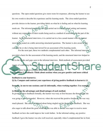 Short Answer Questions essay example