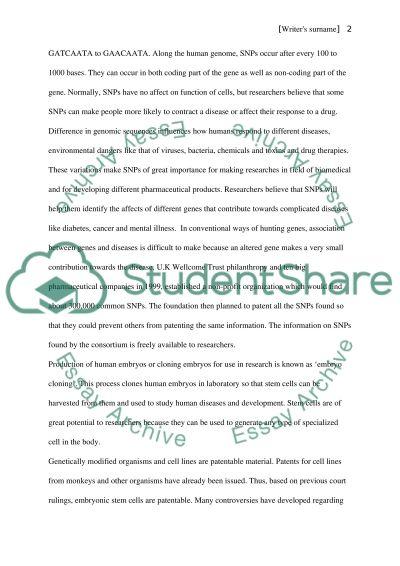 Gene Patenting essay example