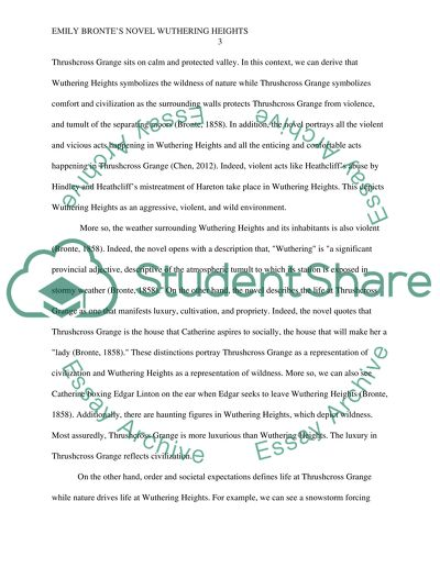 Health Essay Emily Bronts Novel Wuthering Heights The Thesis Statement In A Research Essay Should also Synthesis Essay Topic Ideas Emily Bronts Novel Wuthering Heights Essay Example  Topics And  Essays In Science