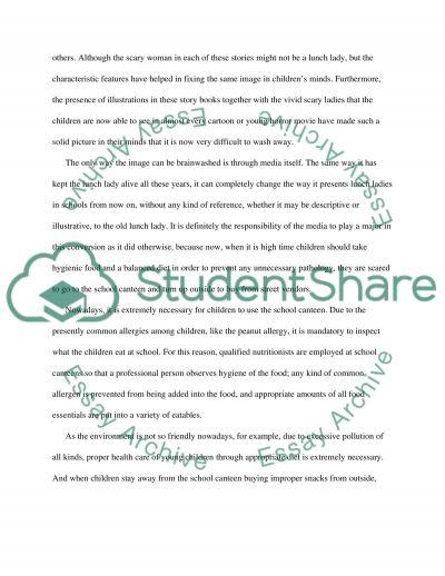 School Lunch Lady essay example