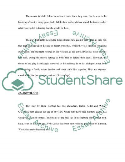 Play essay example