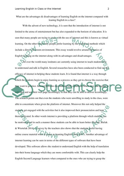 Essay Paper  Last Year Of High School Essay also English Essay Examples Learning English On Internet Compared With Leaning English  Wonder Of Science Essay