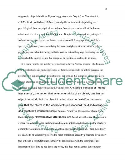 Natural Language Processing Essay example