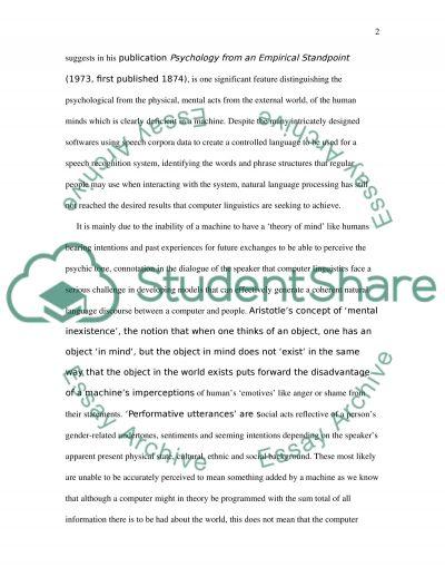 Natural Language Processing essay example