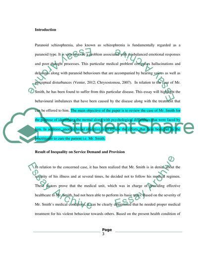 Service user essay