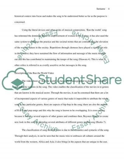 analysis of beyonce s music video run the world essay analysis of beyonces music video run the world essay example text preview