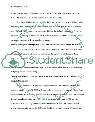 Thesis Statement Essays Malaria English Essay Websites also Jane Eyre Essay Thesis Malaria Essay Example  Topics And Well Written Essays   Words   Essay Learning English