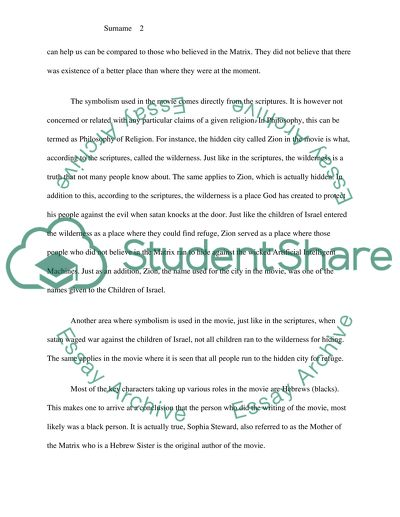 Thesis Statement Descriptive Essay Symbolism Of Movie The Matrix Persuasive Essay Topics For High School Students also Essay Vs Paper Symbolism Of Movie The Matrix Essay Example  Topics And Well  Essay About Science And Technology