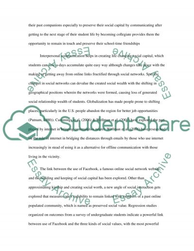 Interpersonal Communication with High School and College Students Research Paper example
