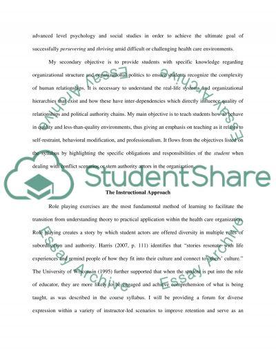 Course Content Portfolio essay example