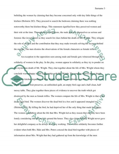 susan glaspell essay Susan glaspell - trifles this term paper susan glaspell - trifles and other 63,000+ term papers, college essay examples and free essays are available now on.