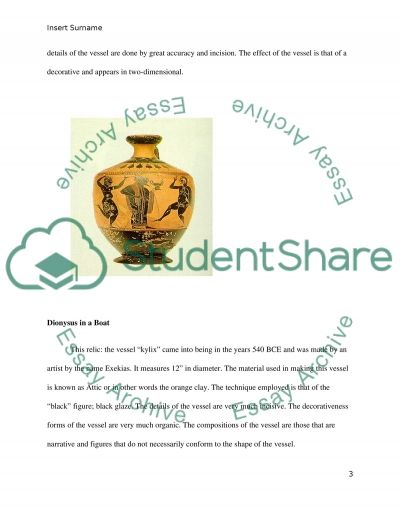 Visual analysis paper of greek pottery. Assignment Example ...