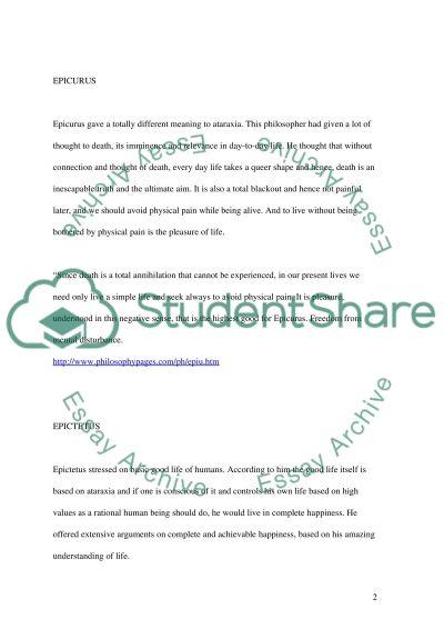 Ataraxia essay example