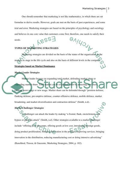 Marketing Strategies Essay