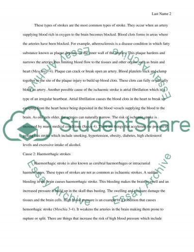 Stroke Cause and Effect Essay