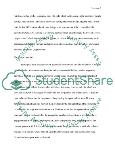 Surfing Culture Essay