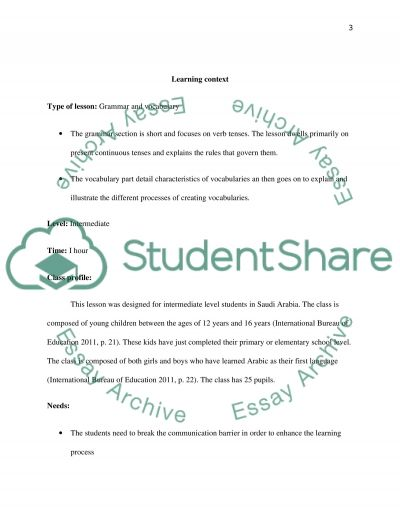 Rational for the lesson I design by using technology in teaching English( power point and Hot potato software) essay example