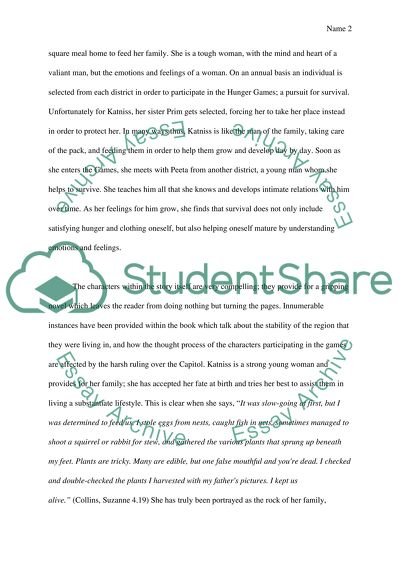 The Hunger Games Essay Example  Topics And Well Written Essays  The Hunger Games