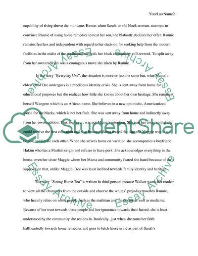 Critical essay on everyday use teacher cover letter advice