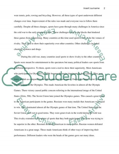 Sports in America essay example