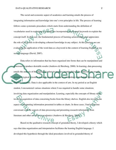 Qualitative research- keyword