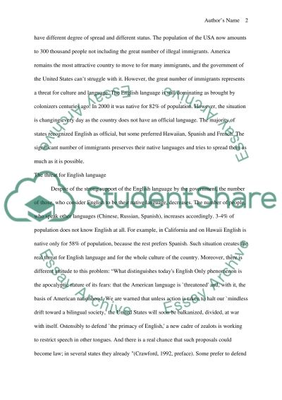 Multilingualism or English Only essay example