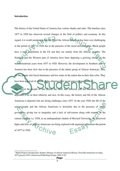 Discrimination Of The African Americans Essay Example  Topics And  Discrimination Of The African Americans