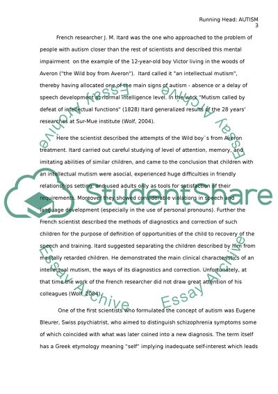 Term papers on autism