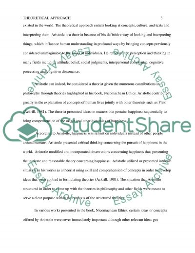 What is a Theoretical Approach essay example