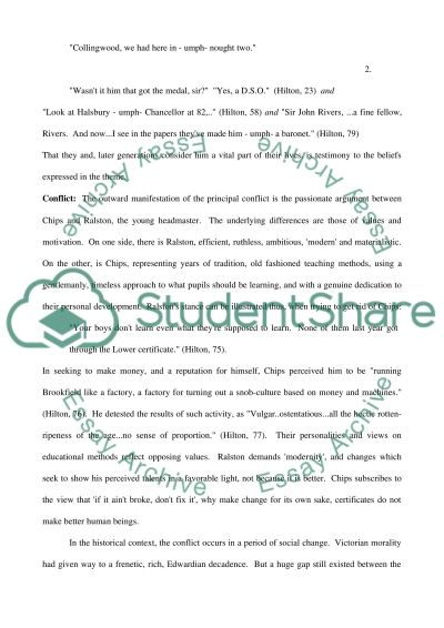 Goodbye Mr. Chips by James Hilton essay example