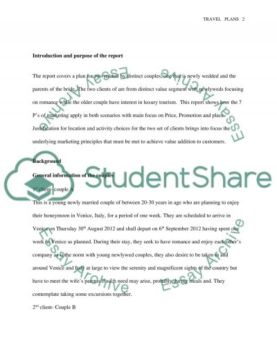 TRAVEL PLANS essay example