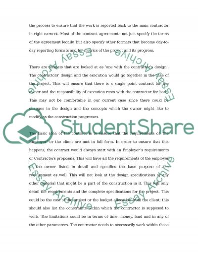 Construction Management Contract Law essay example