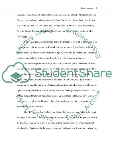 Biblical Narrative essay example