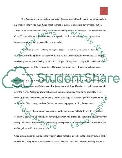 Global Marketing Strategies - Words | Essay Example